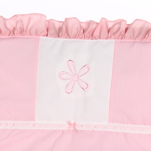 Chevron Cradle Bedding - Color: Pink, Size: 15x33