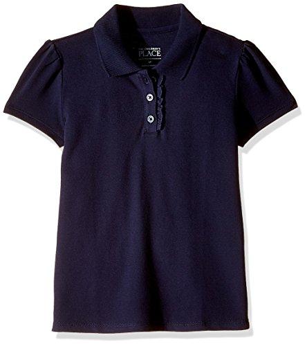 The Children's Place Girls' Uniform Long Sleeve Pique Polo