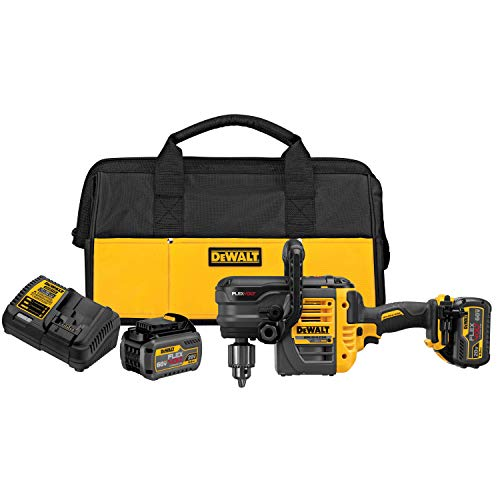 (DEWALT DCD460T2 60V MAX 2 Battery FLEXVOLT Stud Joist Drill Kit, 1/2