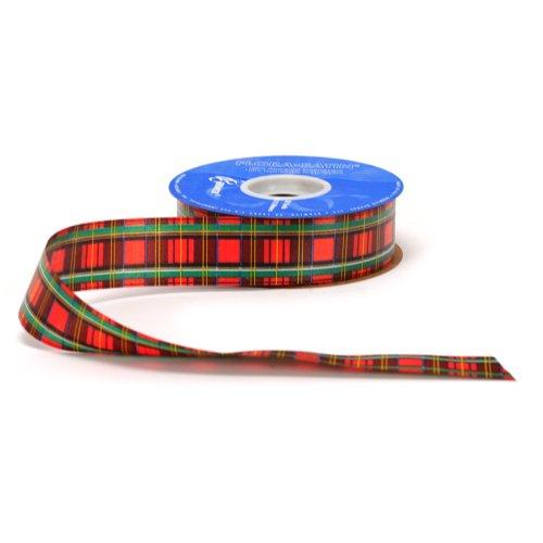 Berwick 1-7/16-Inch Wide by 50 Yard Spool Tartan Holiday Craft Ribbon, Red -