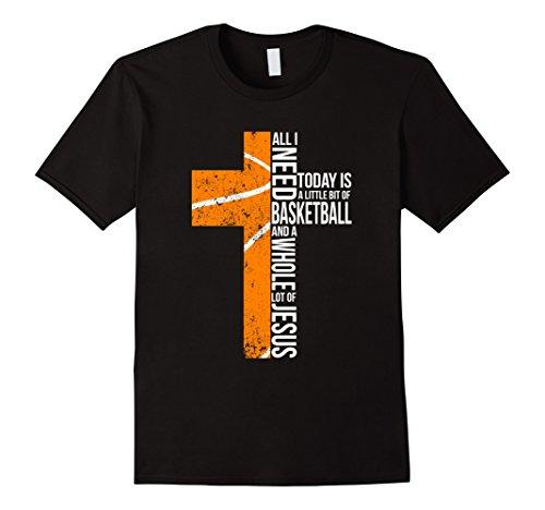 Mens Basketball All I Need Today T-shirt Medium Black