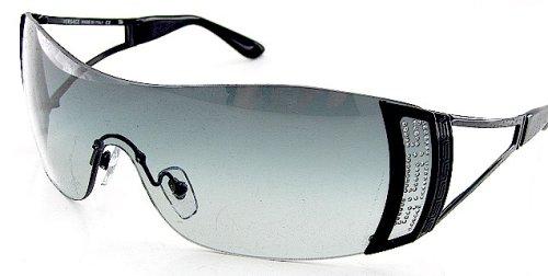 35e32670dc92 Versace 2058-B 2058B 1009 8G Soft Gray Lens   Black Frame Size 01-37 ...