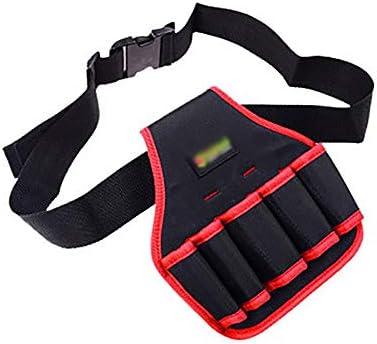 ツールベルト 多機能オックスフォード布ツールベルトバッグ付き5ツールは、青赤黄ポケット 大工のエプロン (Color : Red, Size : 22x23cm)