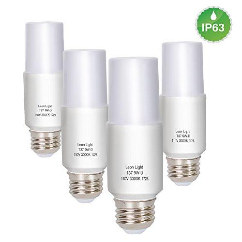 A19 9W LED Light Bulbs,E26 LED Cron Bulb,E26 Candelabra Base,Equivalent to 50W,720 Lumen,120°Beam Angle,3000 Kelvin, dimmable,4-Pack (Shower Light Steam)