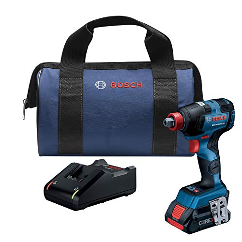 Bosch GDX18V-1800CB15 18V EC Brushless Connected-Ready Freak 1/4 In. and 1/2 In. Two-In-One Bit/Socket Impact Driver Kit with (1) CORE18V 4.0 Ah Compact Battery