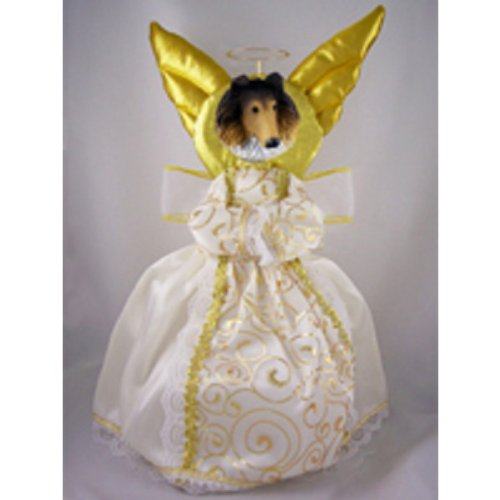 Collie Sable Doogie Collection Angel Tree Topper (Dog Angel Ornament Collie)