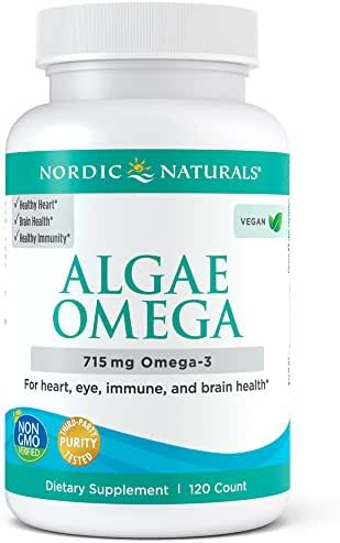 Nordic Naturals Algae Omega - Vegan Omega-3 Supplement for Eye Health, Heart Health, and Optimal Wellness*, 120 Count