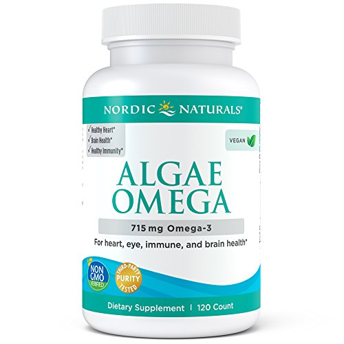 Nordic Naturals Algae Omega - Vegetarian Omega-3 Supplement for Eye Health, Heart Health, and Optimal Wellness, 120 Soft Gels