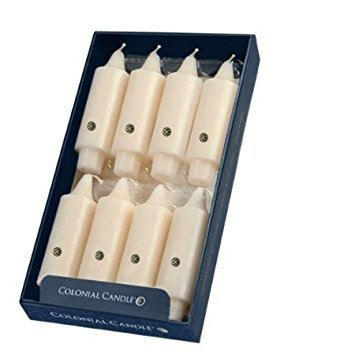 (Colonial Candle Ivory Unscented 5 Inch Grande Classic Dinner Candles - Box of 8)