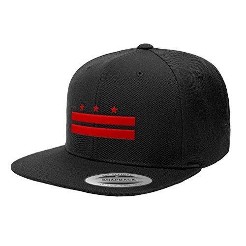 Washington D.C. Official Flag Snapback Hat 6089M (Black)