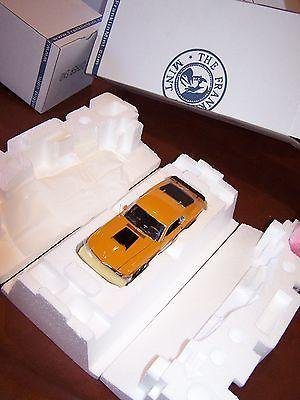 New Franklin Mint 1970 Orange Ford Boss 429 Mustang B11e846 All Paperwork - Sports Memorabilia (Franklin Collectible Cars Mint)
