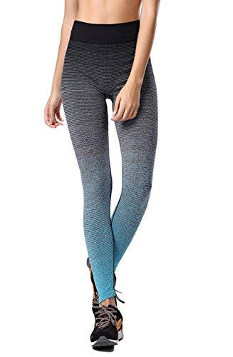 FHSom Women/girl Stripe Sport Outwork Fitness Comfortable Running Gym Yoga Pants Active Stretch Ankle Leggings Winter