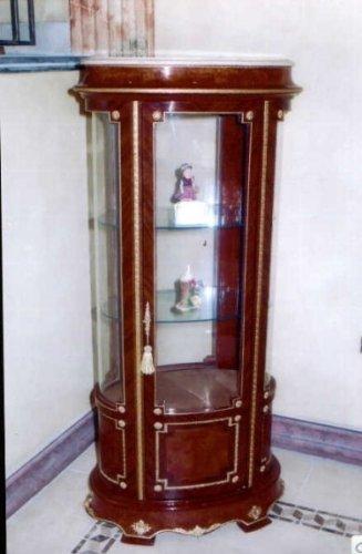 Barock Vitrine Rokoko Antik Stil Schrank Louis XV MoVi0981