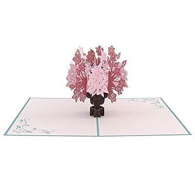 Lovepop Floral Bouquet Blue 3D pop up card