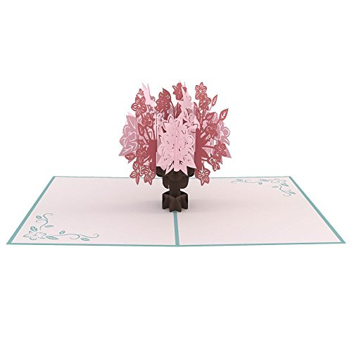 Lovepop Floral Bouquet Blue 3D pop up card