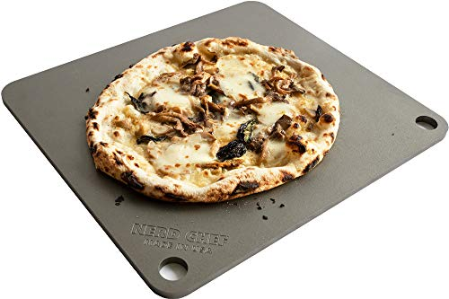 NerdChef Steel Stone - High-Performance Baking Surface for Pizza (.375 Thick - Pro)