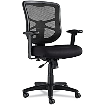 Alera EL42BME10B Alera Elusion Series Mesh Mid-Back Swivel/Tilt Chair, Black