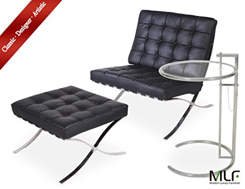 Admirable Mlf Pavilion Chair Ottoman Eileen Gray End Table Chair Gmtry Best Dining Table And Chair Ideas Images Gmtryco