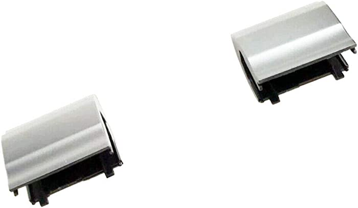 Zahara Left + Right Hinge Covers Replacement for Dell Inspiron 15R-5521 15R-5537 Silver