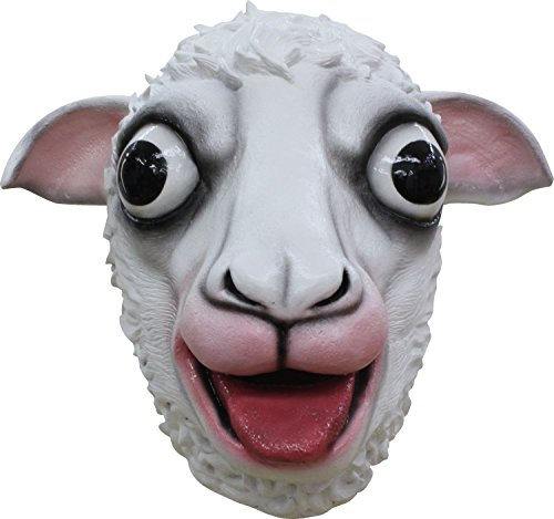 White Sheep Adult Latex Mask Barnyard Cartoon Anime Cosplay Costume (Sheep Masks)