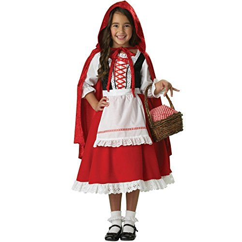 InCharacter Girls Little Red Riding Hood Costume, Large