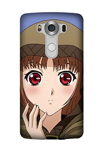 LG V10 Hard Phone Back Mobile Thin TPU Skin Case Cover For LG V10 Spice And Wolf Anime (Spice Mobile)