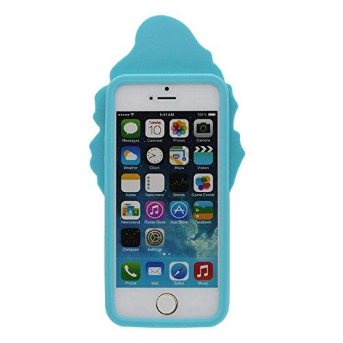 Svelte Apple iPhone 5 / 5S / SE Souple Silicone Gel Coque Étui de protection Case 3D Charmant Cornet de glace Forme