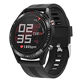 BingoFit Men Smart Watch, Waterproof Sport Watch with 23 Exercise Mode&Connected GPS for Android iOS, Dynamic Heart Rate…