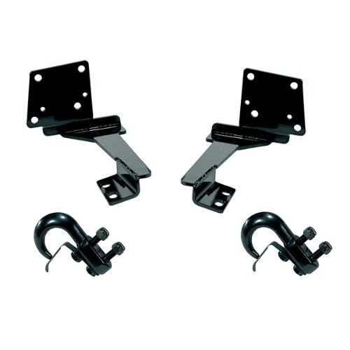 Rugged Ridge 11236.06 Black Front Tow Hook - Pair (Tow Hook Ridge Rugged)
