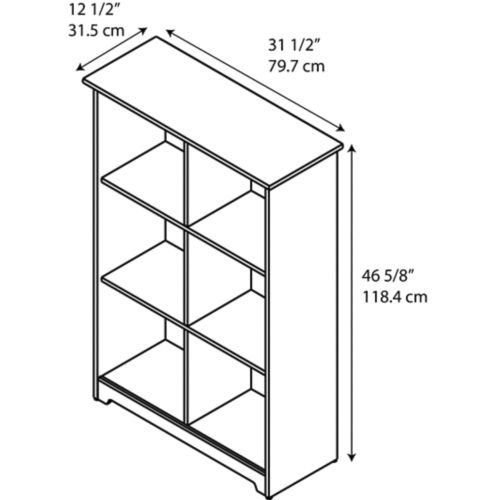 Cabot 6 Cube Bookcase