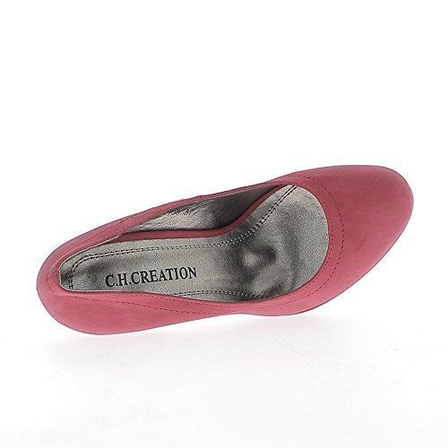 Plataforma y tacón de zapatos mujer rojo mate 11 cm