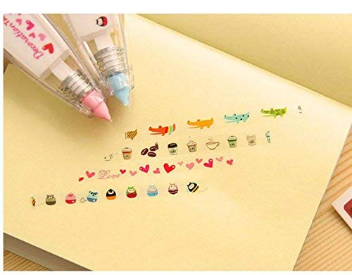 Premium Quality DIY Push Correction Tape for Diary Letter - Blue
