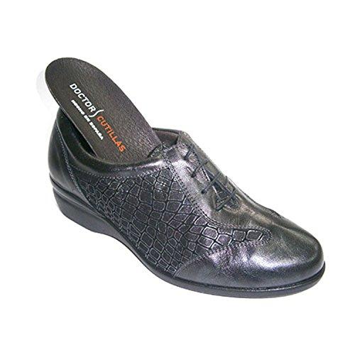 Zapato mujer con cordones para plantillas combinado Doctor Cutillas en gris