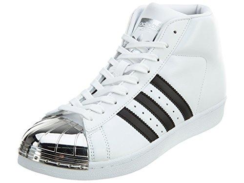 adidas Women's Pro Model Metal Toe Originals Casual Shoe Ftwwht/Black/SilverMT 6 B(M) US
