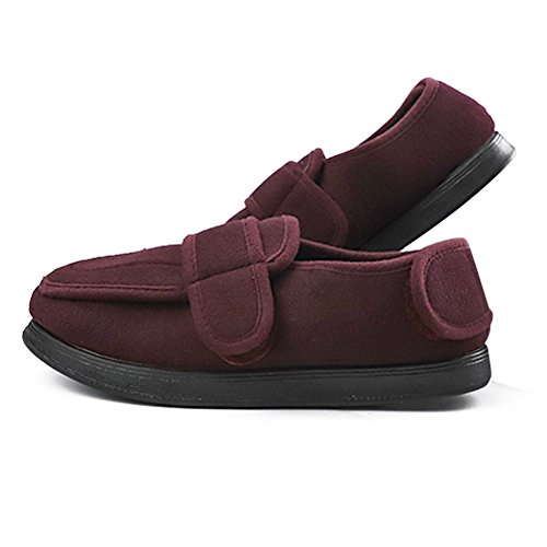 Edema Diabetic Feet Width for Extra Wide and Extra Large Womens Red Adjustable Swollen Slippers Extra w0gtqO