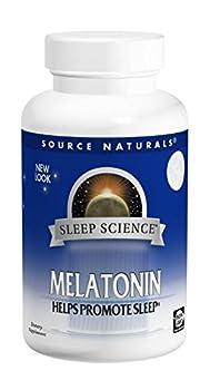 Source Naturals Melatonin  1mg, Peppermint, for Occasional Sleeplessness, 300 Lozenge