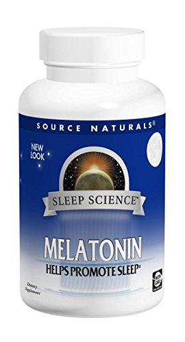 Source Naturals Melatonin  1mg, Peppermint, for Occasional Sleeplessness, 300 Lozenge