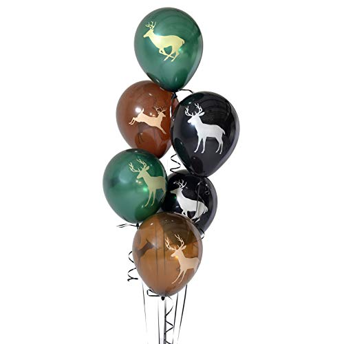 60th Birthday Color Scheme (Latex Buck Deer Party Balloons (12
