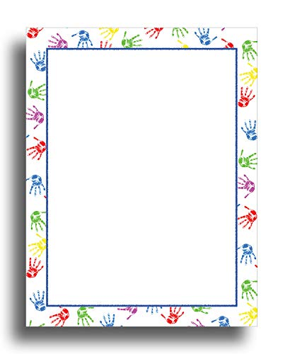 Baby Handprints Border Stationery Paper - 80 (Paper Borders)