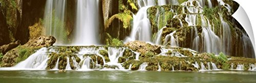 Canvas on Demand Wall Peel Wall Art Print entitled Tributary Waterfall Snake River ID 48