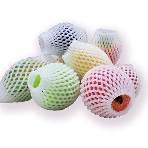 (120 PCS Fruit Net Bag, Pearl Cotton Anti-Collision Vegetable Foam Net Shockproof Protective Plastic Net, Buffer Net Bag)