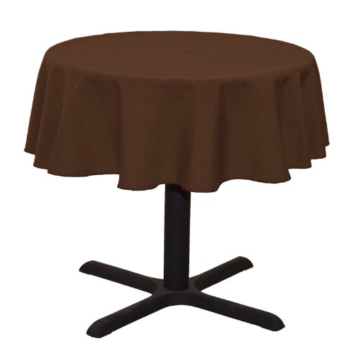 LinenTablecloth Round Cotton-feel Tablecloth, 51-Inch, Chocolate