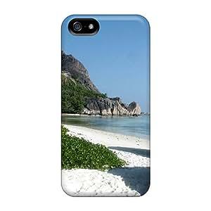 Hot Design Premium MYHXM14745PpnXR Tpu Case Cover Iphone 5/5s Protection Case(sand Beach X Nature White)