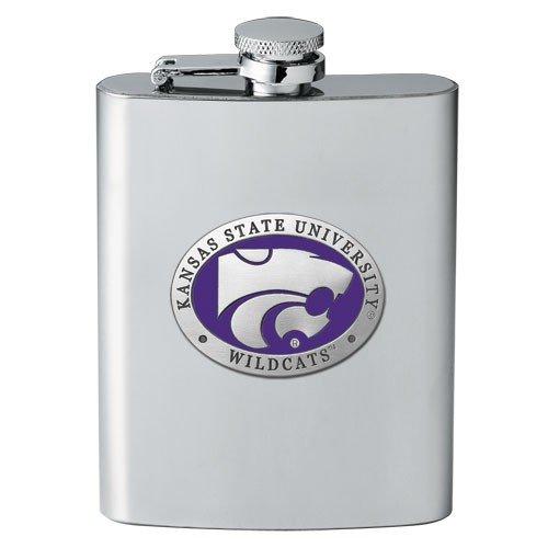 (Heritage Pewter Kansas State Wildcats Flask)