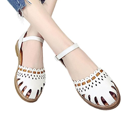 Zapatos Fiesta de Calzado Hueco de para Sandalias Vestir Dama Mujer 2018 Plano C PAOLIAN Oto o 44Trwqxgn