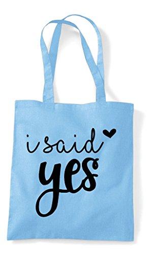 Bag Blue Sky Tote Shopper Yes Statement Engagement Wedding Said I zUFP88