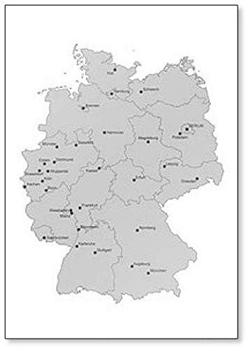 Amazon Com Karte Von Deutschland Stadte Einzeln Classic