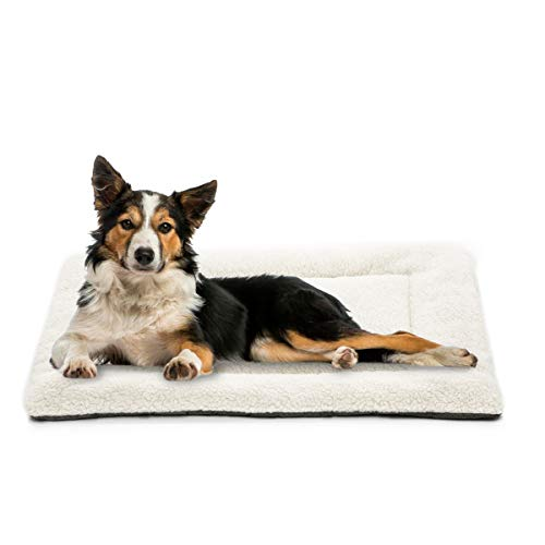 INVENHO Dog Bed Mat Comfortable Soft Crate Pad Anti-Slip Washable Dog Crate Pad for Large Medium Dogs & Cats(42-Inch) (Pad Cheap Dog Crate)