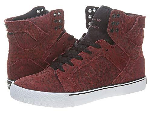 Supra Chad Muska Skytop Skate Shoe - Men's Burgundy Suede, 9.5 Burgundy Suede, 9.5 - Muska Skytop Skate Shoes