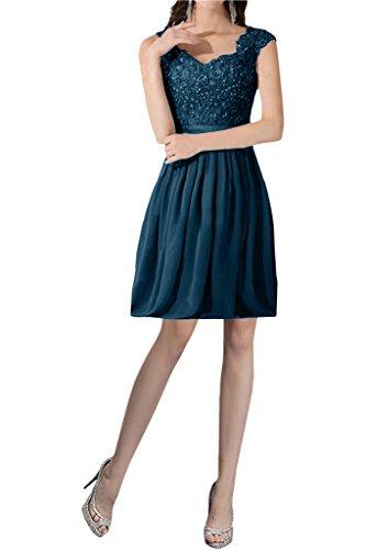 mia Knielang Damen Partykleider Kurz Braut La Dunkel Promkleider Blau Spitze Chiffon Weinrot Ballkleider Abendkleider ZHEdwxwv